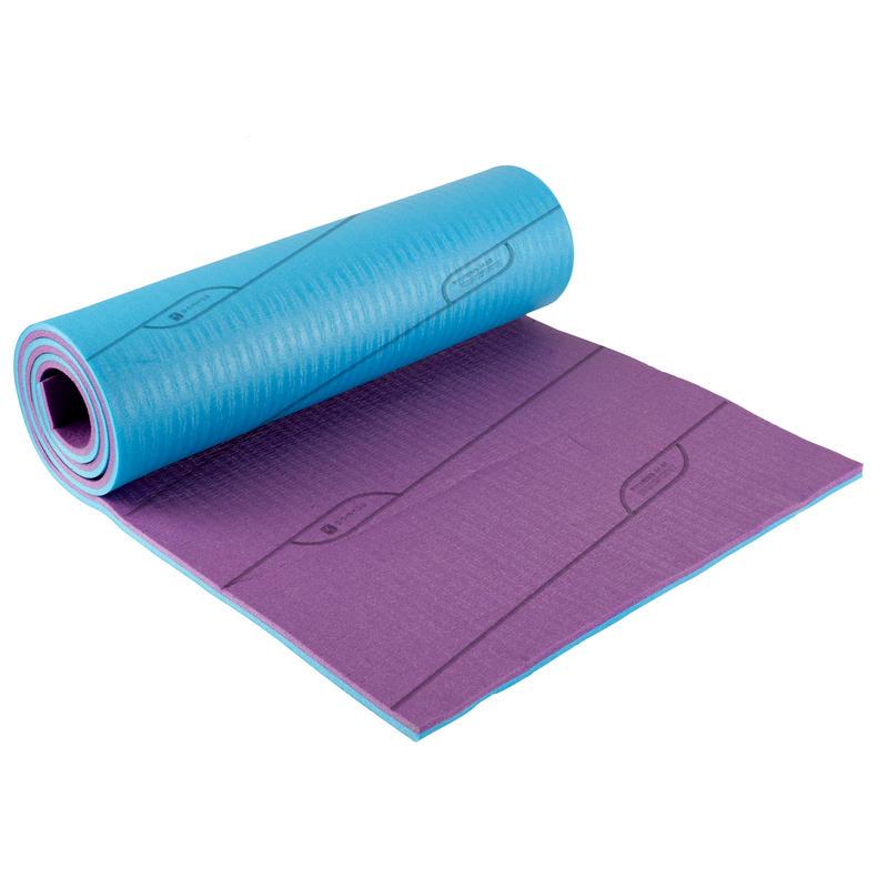 Tapis de Fitness COMFORT réversible bleu/violet