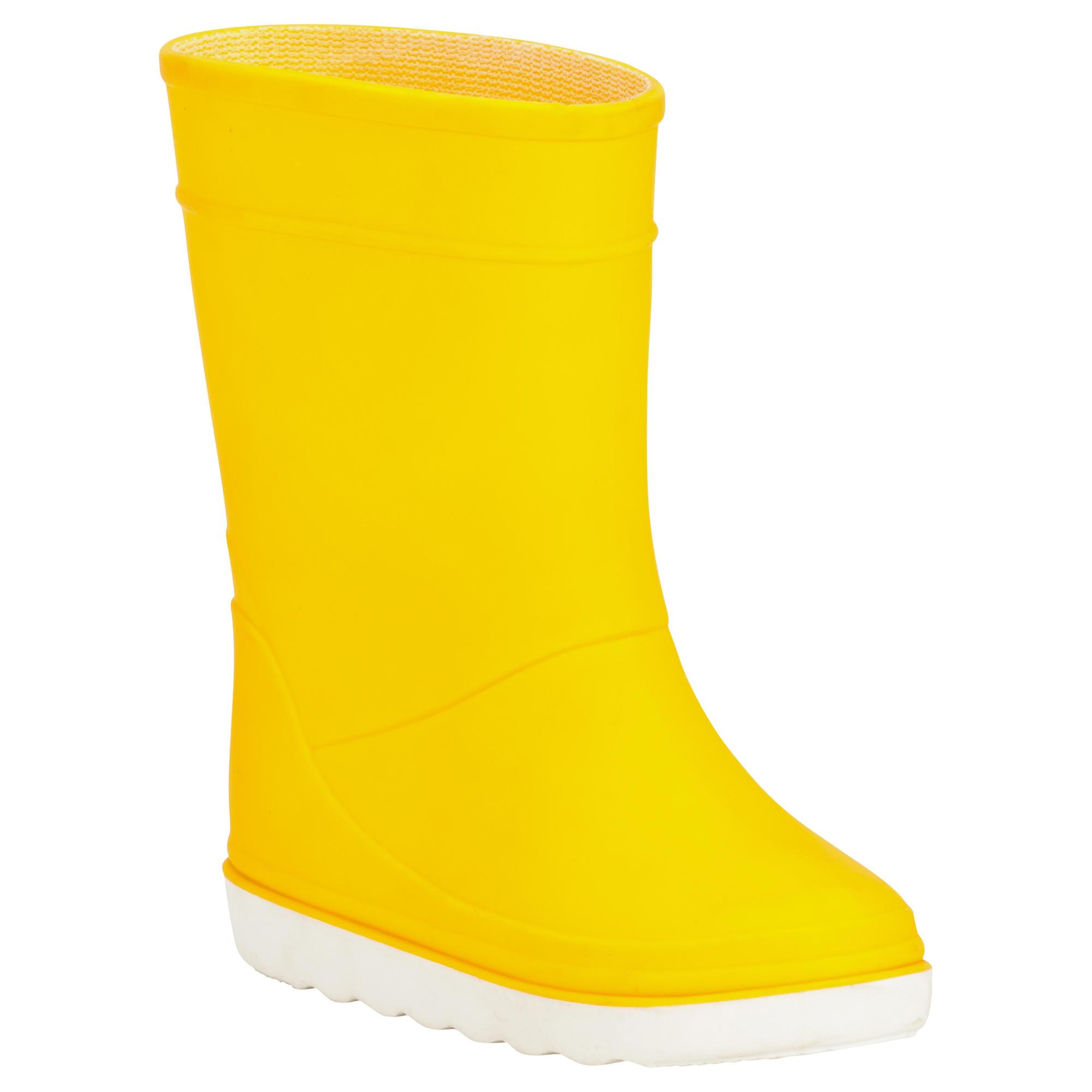 Bottes bateau b100 enfant jaune tribordvoile - Botte enfant decathlon ...