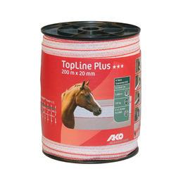 Ruban pour clôture équitation TOP LINE PLUS blanc - largeur 20mm X 200m