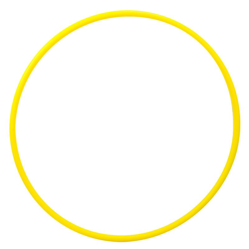 Aro de Gimnasia Rítmica de 65 cm amarillo