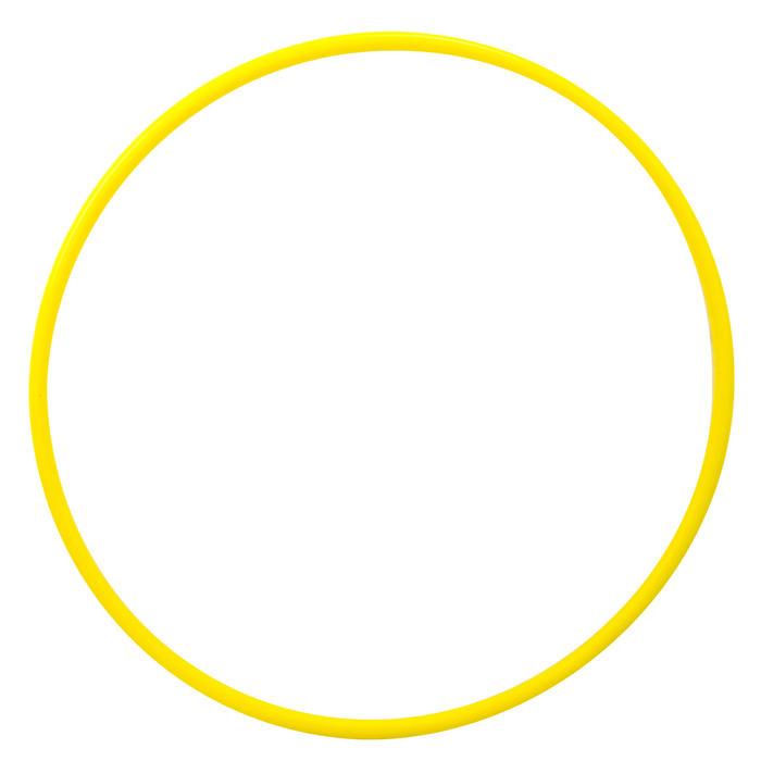 Hoepel voor ritmische gymnastiek 65 cm geel