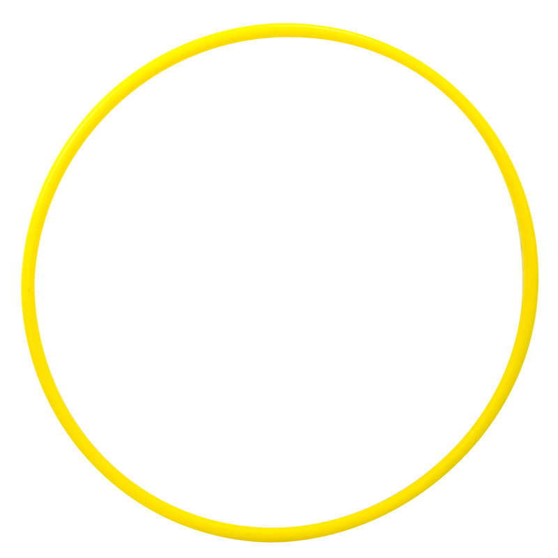 ACCESSORI GINNASTICA RITMICA Ginnastica Artistica,Ritmica - Cerchio ginnastica 65cm giallo DOMYOS - Sport