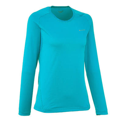 Techfresh 50 Women's Long-Sleeved Hiking T-Shirt - Blue