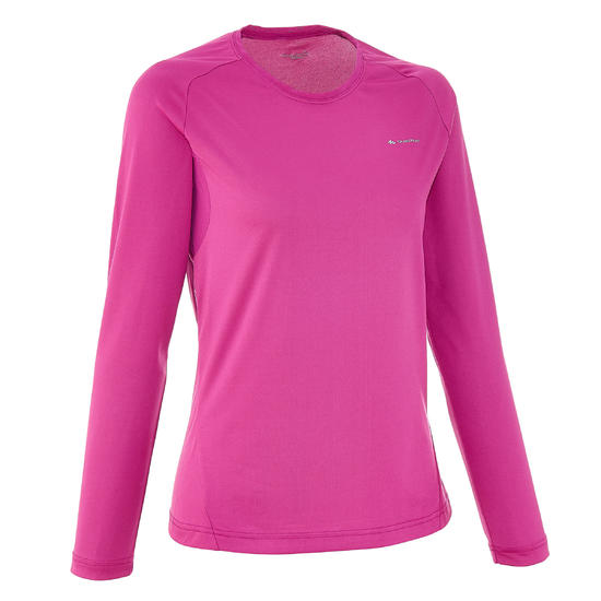 T-shirt lange mouwen trekking Techfresh 50 dames - 51049