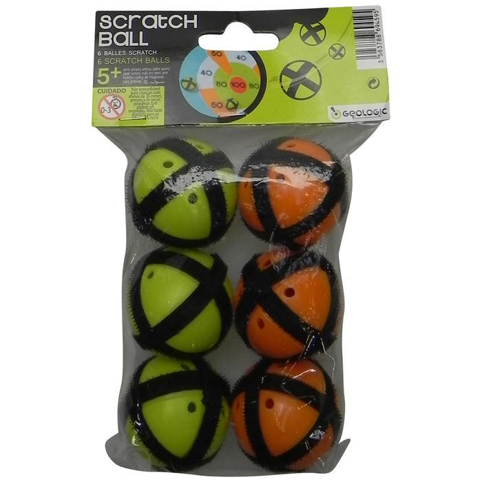 Klettbälle 3x für Klettwurfscheibe