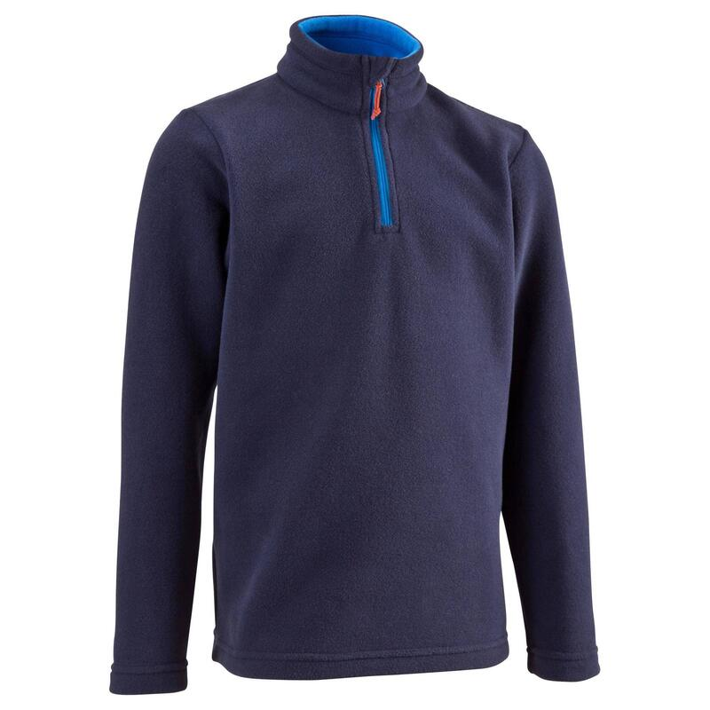 Kids' Hiking Fleece MH100 7-15 Years - Navy