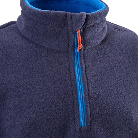 Kids' 7-15 Years Hiking Fleece MH100 - Navy