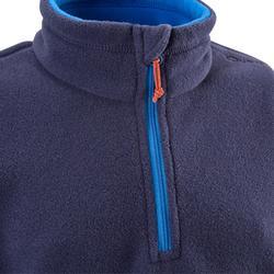 Fleecepullover Hike 100 Kinder marineblau
