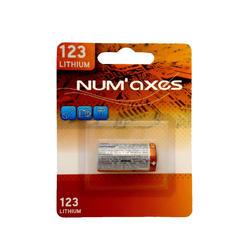 Pile lithium Num'axes 3V CR123A compatible avec colliers Canicalm et Canibeep