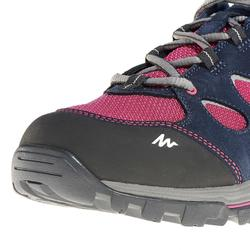 Zapatillas de travesía montaña mujer Forclaz Flex 3 impermeables rosa