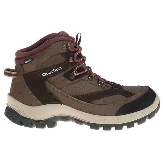 Hoge waterdichte wandelschoenen voor dames Forclaz 100 - 514713