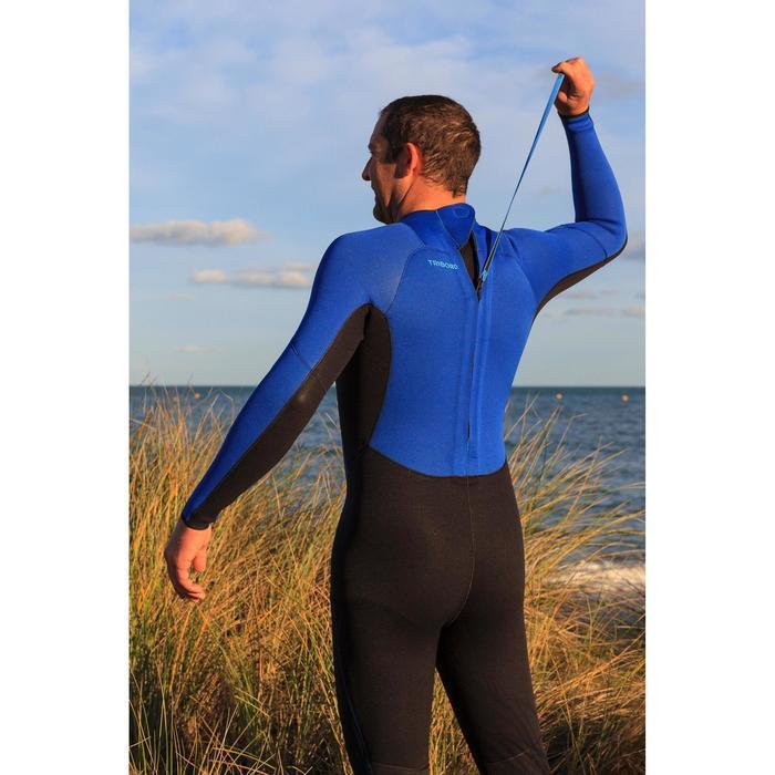 Traje Neopreno Largo Surf Olaian 100 Hombre 4/3 mm Negro/Índago/Claro