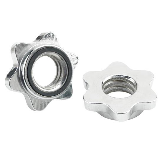 Paar schroefringen voor barbells met schroefdraad - 516306