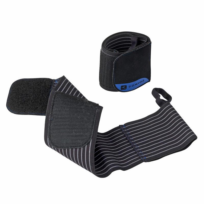 Muñequeras de protección para musculación con ajuste autoadherente