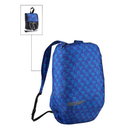 Kleine opvouwbare rugzak voor dagelijks gebruik Pocket Bag blauw met pijlen - 516320