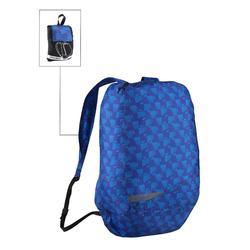 Kleine opvouwbare rugzak voor dagelijks gebruik Pocket Bag blauw met pijlen