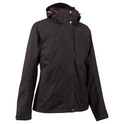 Chaqueta de trekking Rainwarm 100 3en1 mujer negro