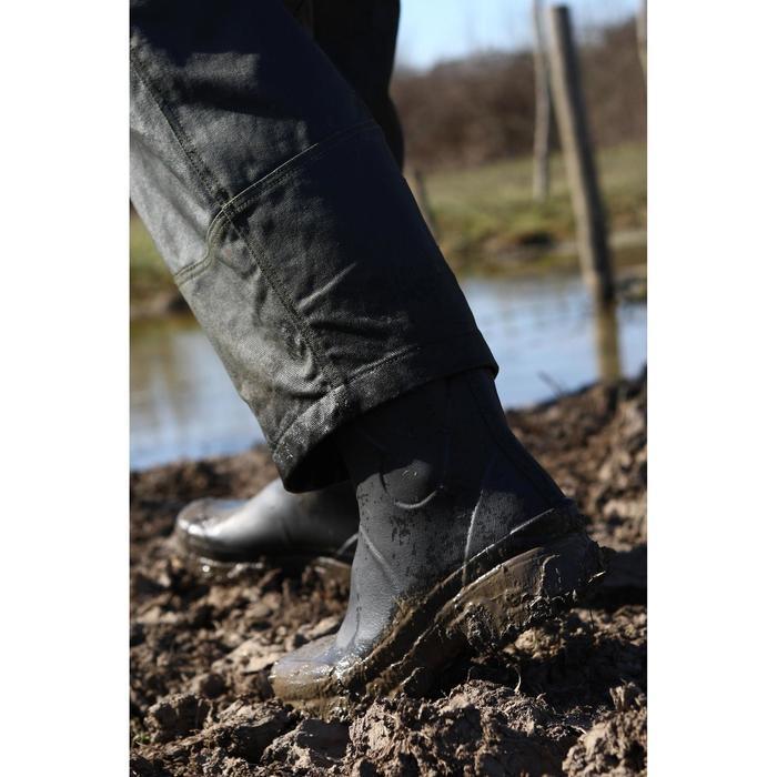 Botas de caza resistentes Inverness 300 verde caucho