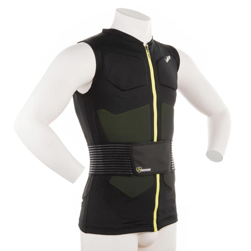 Adult Snowboard and Ski Protective Vest Defense Jacket - Black
