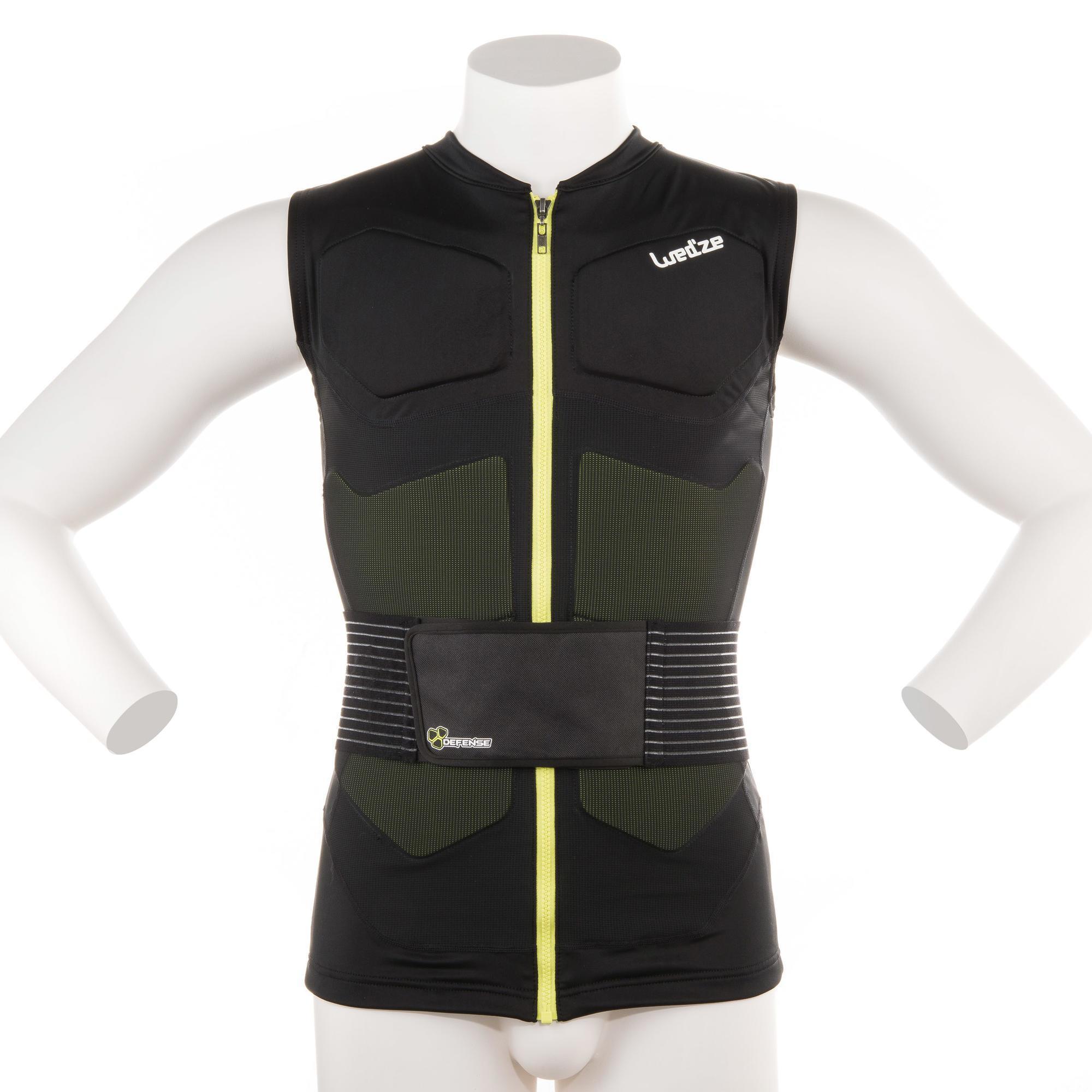 gilet de protection ski et snowboard adulte defense jacket wedze. Black Bedroom Furniture Sets. Home Design Ideas