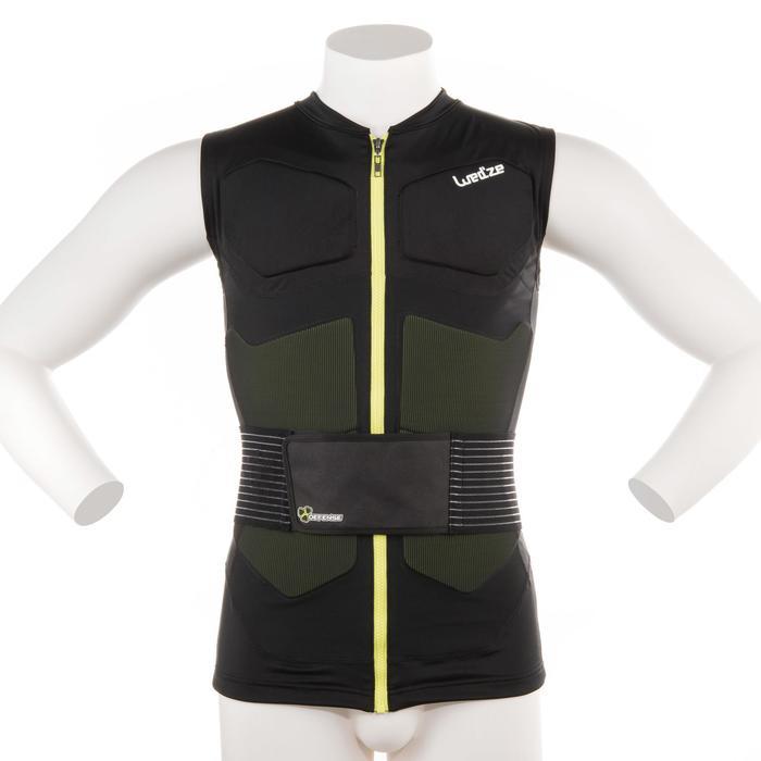 成人單/雙板滑雪防護背心外套黑色