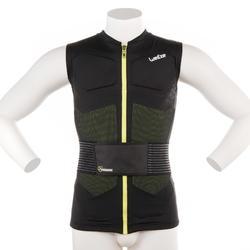 Chaleco de protección esquí y snowboard adulto defense jacket negro