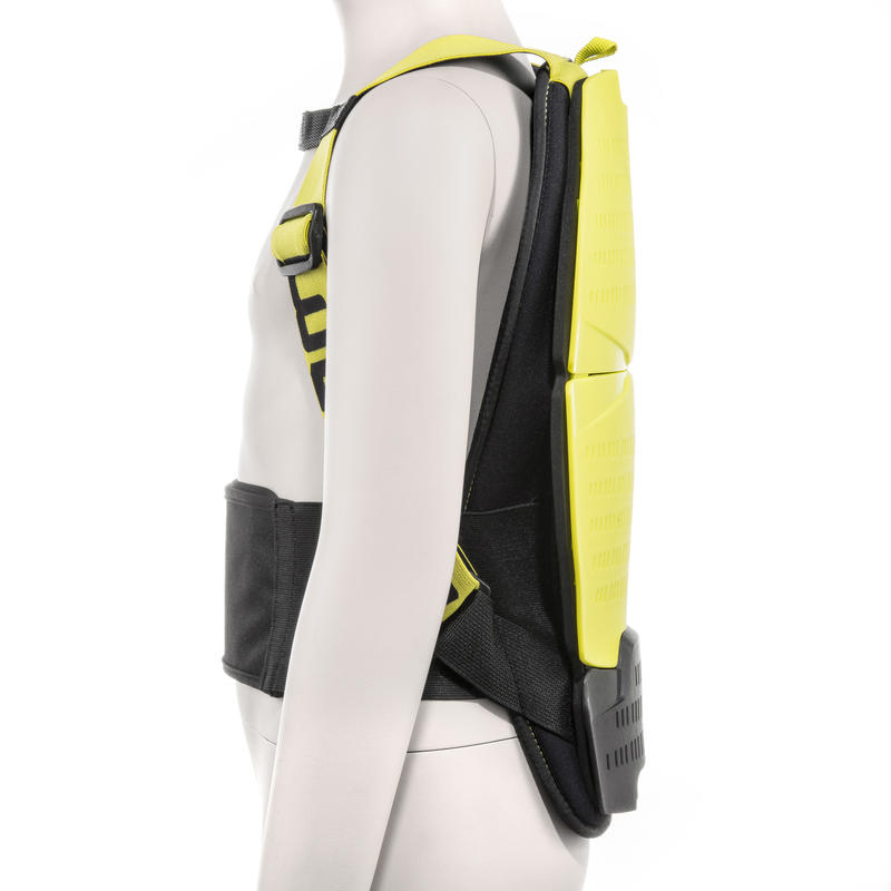 Wed'ze Defense Back II -P Children's Ski and Snowboard Back Protection