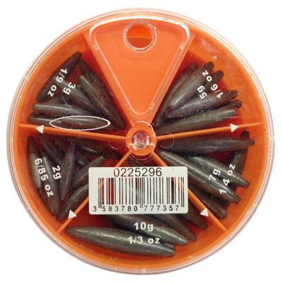 קופסת משקולות דיג עם תאים OLIVE 5 לזמן ממושך