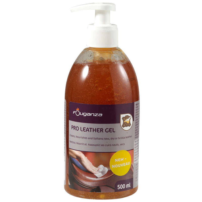 RIDING LEATHER/TEXTILE CARE Horse Riding - PRO' Leather care gel FOUGANZA - Saddlery and Tack