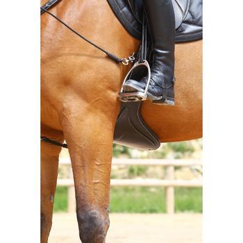 Sangle bavette cuir équitation poney et cheval ROMEO - 525140