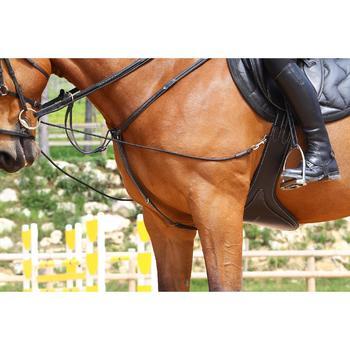 Sangle bavette cuir équitation poney et cheval ROMEO - 525141