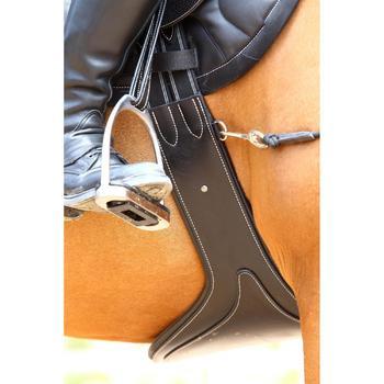 Cincha faldón cuero equitación caballo y poni ROMEO negro