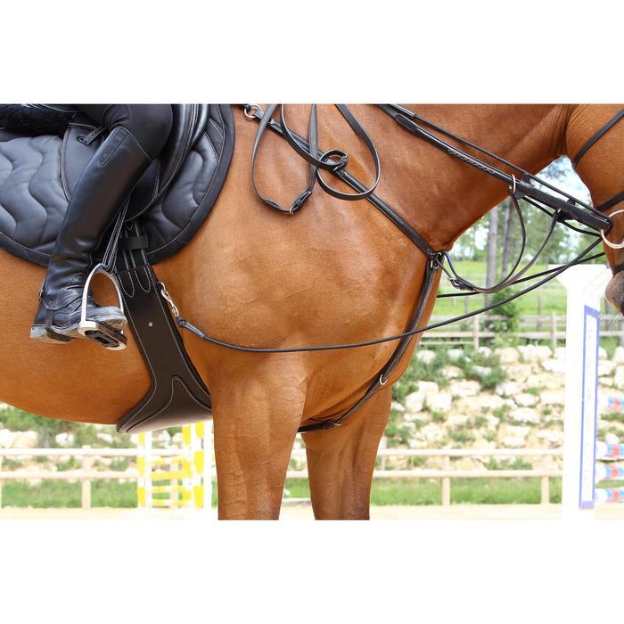 Sangle bavette cuir équitation poney et cheval ROMEO - 525145