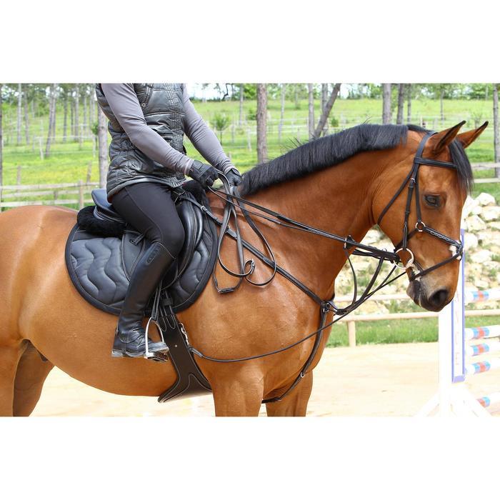 Sangle bavette cuir équitation poney et cheval ROMEO - 525146