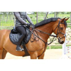 Sattelgurt Stollengurt Romeo Leder Pony/Pferd schwarz