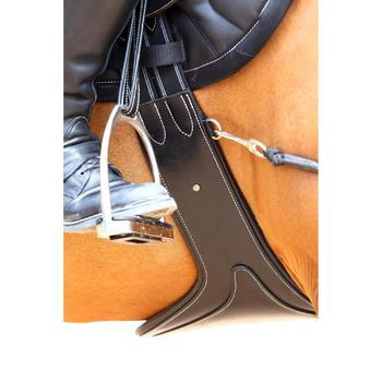 Sangle bavette cuir équitation poney et cheval ROMEO - 525148