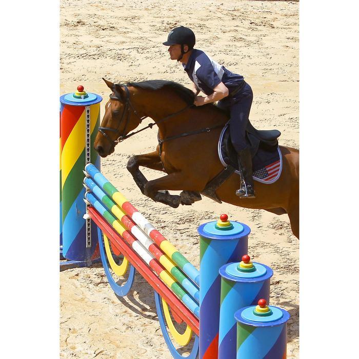 Sangle bavette cuir équitation poney et cheval ROMEO - 525152