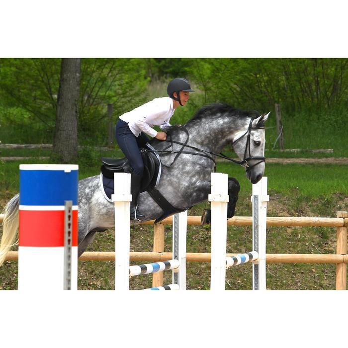 Sangle bavette cuir équitation poney et cheval ROMEO - 525155