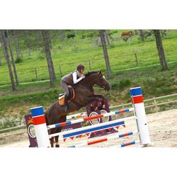 Sangle bavette en cuir équitation cheval et poney ROMEO marron