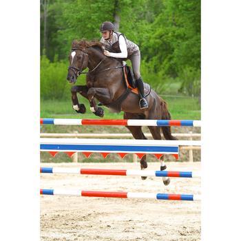 Cincha faldón de cuero equitación Fouganza Romeo poni y caballo marrón