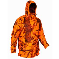 Jagd-Regenjacke warm wasserdicht 3-IN-1 300 camouflage orange