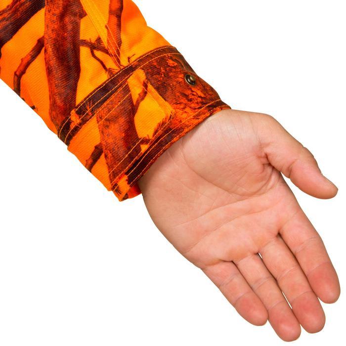 Chaqueta Caza Solognac Bgp Sibir 300 Impermeable Calida Camuflaje Naranja Fluo