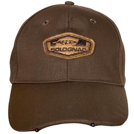 LED medību cepure ar nagu, brūna