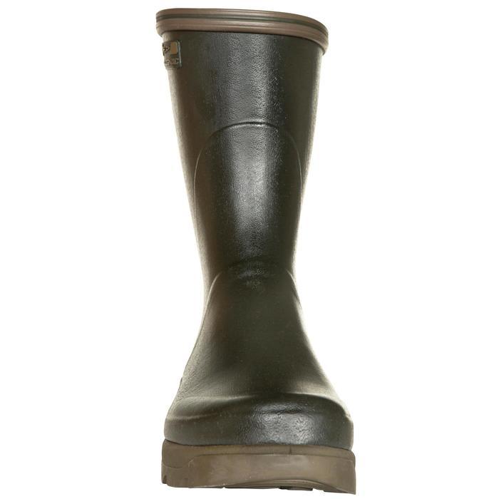 Bottillons chasse résistant Inverness 300 vert caoutchouc - 526015
