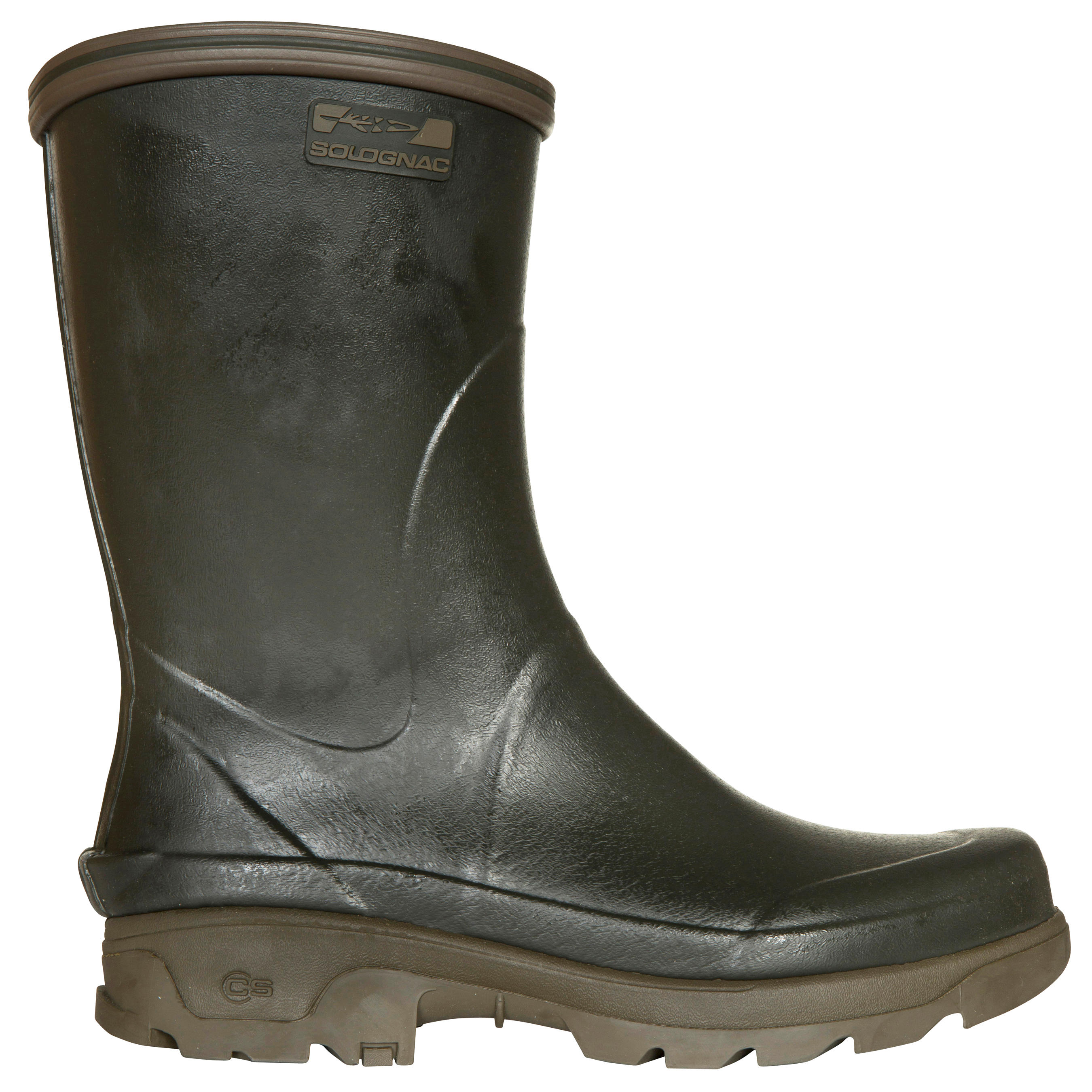 Inverness 300 durable low hunting wellies - green