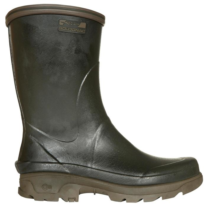 Stevige rubberen jachtlaarzen Inverness 300 groen