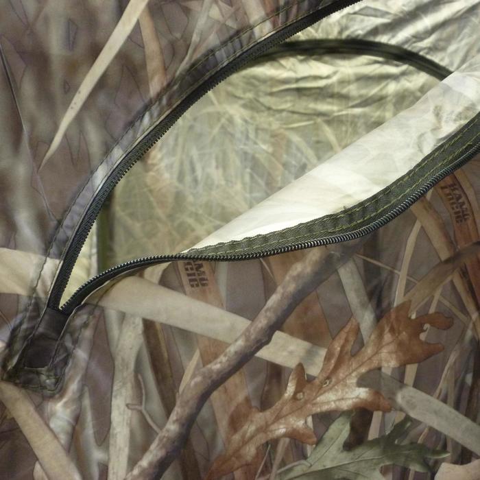 Vierkante loertent met moerascamouflage voor de jacht - 526063