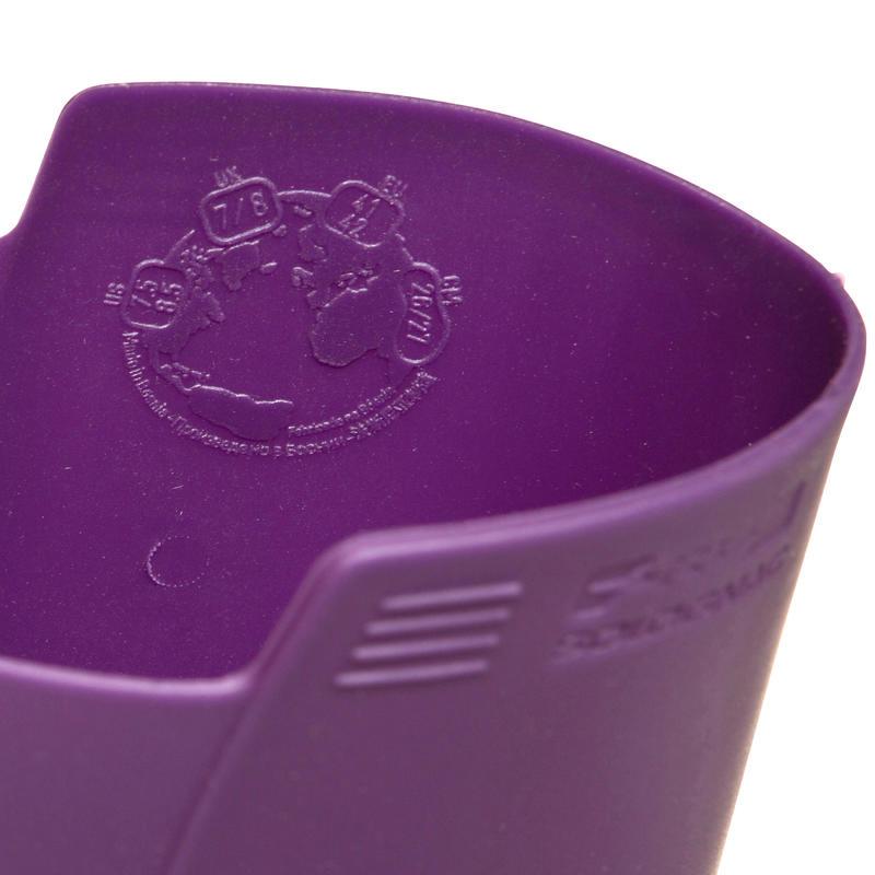 Botas Agua Caza Solognac Inverness 100 Mujer Morado Impermeable