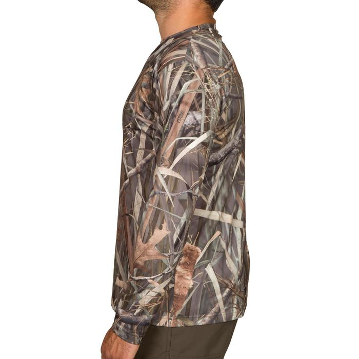 T shirt chasse manches longues Steppe 300 camouflage marais - 526360