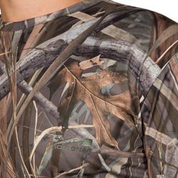 Jagers T-shirt met lange mouwen Steppe 300 moeras camouflage - 526370